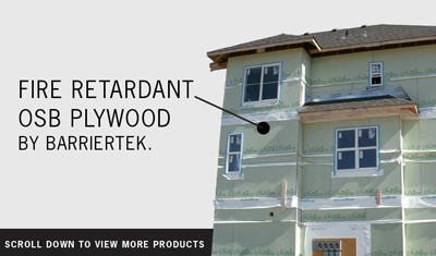 Wood Frame Construction Fire Resistant Sheathing